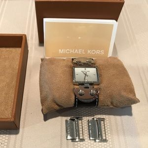 Michael Kors Square Leather Watch